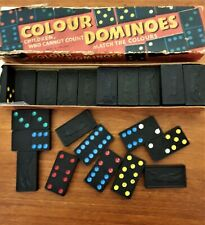 Vintage (1960s) SPEAR'S GAMES Colour Dominoes. Children/ Adult Family Play.