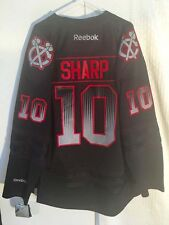 Reebok Premier NHL Jersey Chicago Blackhawks Patrick Sharp Black Accel sz XL