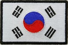 "(A34) KOREAN FLAG 3"" x 2"" iron on patch (5181) Biker"