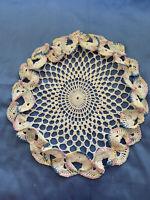 Vintage Doily Hand Crochet Round Pastel Off White