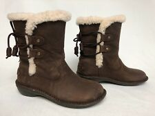 UGG Australia 1007760 Akadia Stout / Black Winter Booties Lace Up Boots Leather