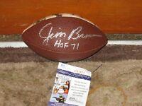 Jim Brown HOF 71 Autographed Mini Football JSA Certified