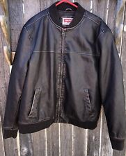 Levi's Red Tab Mens Polyurethane Black Casual Jacket Sz XL #54163 2-Pocket