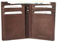 Excellanc Herren Geldbörse Echt-Leder 9 x 12 cm Braun Portemonnaie X3000229002