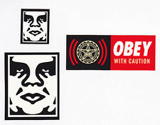 OBEY GIANT Shepard Fairey 3 STICKER LOT Set #20 *BRAND NEW* Andre The Giant