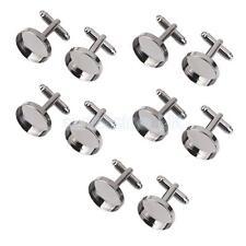 9mm 12mm 15mm Metal en Blanco Plateado Gemelos en Blanco Pad Craft encontrar 10 20 B 50 piezas