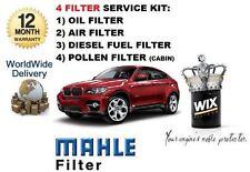 FOR BMW X6 xDRIVE35D 3.0TD 2008-  SERVICE KIT OIL AIR FUEL POLLEN FILTER SET