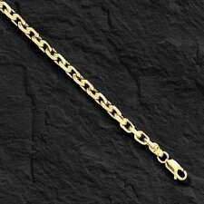 """10kt Solid Yellow Gold Handmade Link Men's Chain/Necklace 18"""" 30 grams 4.5MM"""