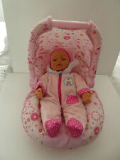 CUPCAKE PINK BABY DOLLS CAR SEAT - CARRY SEAT & DOLL IN OUTFIT   ELC