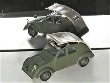 CITROEN 2CV PROTOTYPE, VERITABLE VERSION 1938/39, NOREV 1/43 capote ouvrante