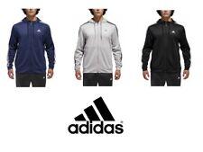 Adidas Mens Climawarm Tech Stripe Full Zip Fleece Hoodie Jacket NWT