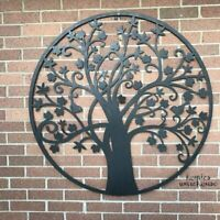 "Large Metal Tree of Life Wall Art Decor Sculpture Indoor Home Outdoor Porch 39""R"
