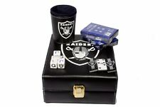 Oakland Raiders Deluxe Set 3 Games: Dominó, Dice Cup, 2 Poker Cards