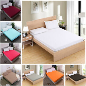 Fitted Sheets Bed Sheet Comfort Bedding Cover Deep Pocket Full King Queen Soft