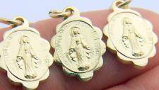 Special Set of 50 Mini Miraculous Medals Virgin Mary Pendant Gold Tone Aluminum