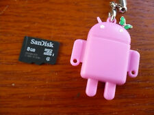 SanDisk 8GB Micro SD microSDHC w USB reader PINK