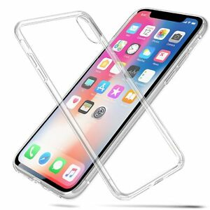 Crystal Clear Thin Back TPU Gel Jelly Skin Case Cover For iPhone X UK FREE POST