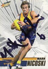 Mark Nicoski Hand Signed 2008 West Coast Eagles AFL Card