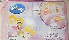 Disney Princess 4 pcs. Full Sheet SET Microfiber NEW