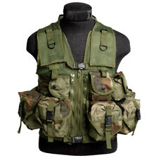 TACTICAL MILITARY ASSAULT VEST 9 POCKETS COMBAT WEBBING CARRIER FRENCH CCE CAMO