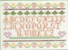 "DMC Limited edition Counted Cross Stitch Kit ""Hearts and Flowers Sampler"""
