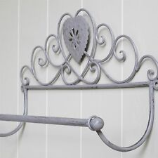 Grey Heart Towel Rail or Kitchen Roll Holder