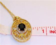 1.25CT DIAMOND/SAPPHIRE NECKLACE/PENDANT W/CHAIN14K W&Y GOLD! (WE OFFER LAYAWAY)