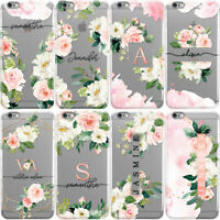 INITIALS PHONE CASE PERSONALISED FLORAL HARD COVER FOR APPLE IPHONE 11 & XR