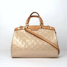Louis Vuitton Brea MM Vernis Beige Monogram Patent Leather Crossbody Bag