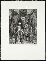 Kunst in der DDR, 1981. Radierung Claus WEIDENSDORFER (1931-2020) handsigniert