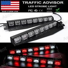 48 Emergency Warning Strobe LED Light Bar Car Traffic Visor Fog Flashing Lamps