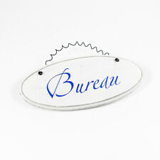 Bureau - French Room Sign Hanging Plaque Decorative Chic Ceramic Door Sign