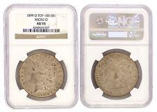 1899-O Micro O Top 100 Variety Morgan Silver Dollar NGC AU-55 Rare VAM Coin 4037