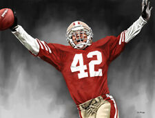 Ronnie Lott San Francisco 49ers 13 X 17 Giclee by James Byrne Series 5