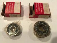 2 NOS Vintage Old Car Parts Ball Bearings 3201, 3203