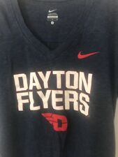 Women's Large L University Of Dayton UD Flyers Nike T-shirt Navy Blue 429