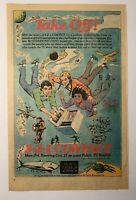 Rare 1983 3-2-1 Contact TV Show AD Childrens Television Workshop Magazine Page