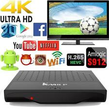 KM8P Android 7.1 Smart TV BOX Amlogic S912 Octa Core 64bits WiFi VP9 4K 3D Movie
