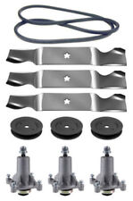 "Husqvarna YTH 2348 48"" Lawn Mower Deck Rebuild Kit Spindles Blades Belt Pulleys"