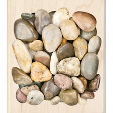 MARBLE STONE BACKGROUND Rubber Stamp 60-00793 Inkadinkado river rock pebble NEW