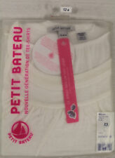 PETIT BATEAU Women's White Top 60518 Sz 12 Years XS NEW $62