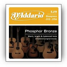 D'ADDARIO EJ19 Phosphor Bronze, Bluegrass, 12-56 ACOUSTIC GUITAR STRINGS  2 PACK