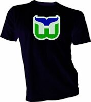 HARTFORD WHALERS DEFUNCT NHL OLD TIME HOCKEY Black T-SHIRT NEW Size s-xl