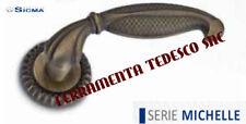 MANIGLIA PORTE LEGNO INTERNE COLORE BRONZO YESTERDAY SICMA SERIE MICHELLE
