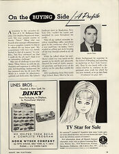 1964 PAPER AD Dinky Toy Cars Car Store Display Case Showcase Mattel Skipper Doll