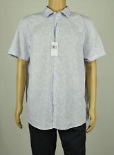 Michael Kors Mens Purple Short Sleeve Tailored Fit Button Down Shirt XL