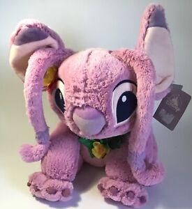 "Disney Store Lilo & Stitch Plush Soft Toy 15"" HAWAIIAN ANGEL with Lei- New, Tag"
