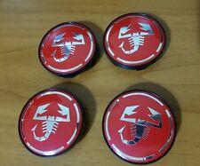 Kit 4 Tappi Coprimozzo logo ABARTH 60mm Scorpione Cerchi in Lega borchie Fiat