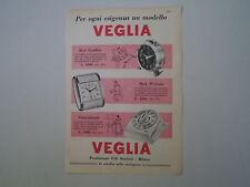 advertising Pubblicità 1958 SVEGLIA VEGLIA CADILLAC/WYDESTA/CONTAMINUTI BORLETTI
