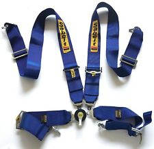 "Universal Sabelt Blue 4 Point Camlock Quick Release Racing Seat Belt Harness 3""W"